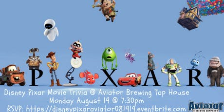 Disney Pixar Trivia at Aviator Brewing Tap House tickets