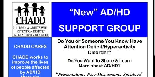 July 27th - New CHADD ADHD Support Group in Germantown