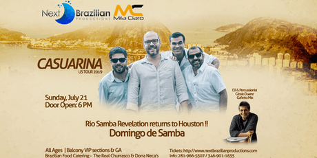 Casuarina, Rio Samba  returns to Houston  tickets