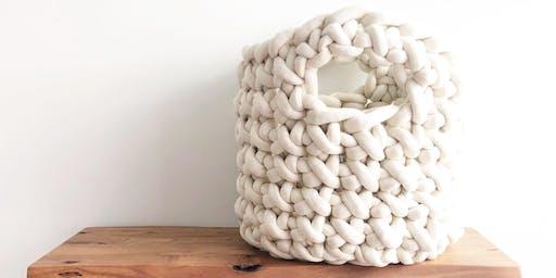 Large Plush Crochet Basket Class