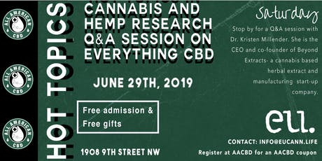 Hot Topics in Cannabis & Hemp research: Q & A on everything CBD tickets