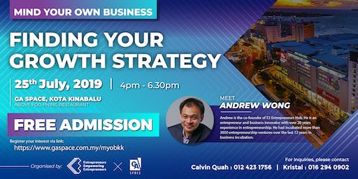 Mind Your Own Business: Finding Your Growth Strategy (JULY KK)