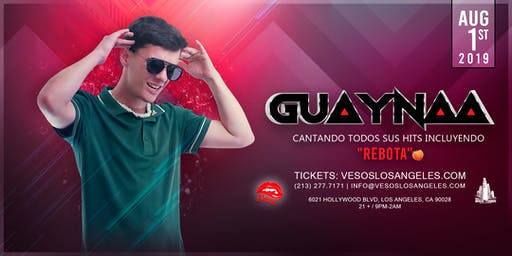 Vesos Presents Guaynaa One Night Only @ Academy 21+