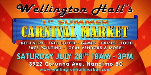 Summer Carnival Market at Wellington Hall - FREE Event