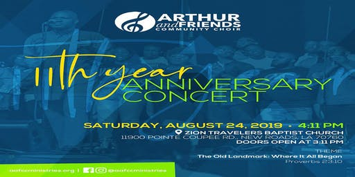 Arthur & Friends Community Choir 11th Year Anniversary