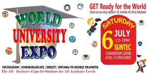 World Uni Expo @ Suntec Sat 6 July Level 3 Concourse