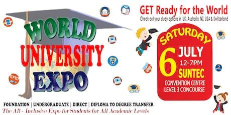 World Uni Expo @ Suntec Sat 6 July Level 3 Concourse tickets