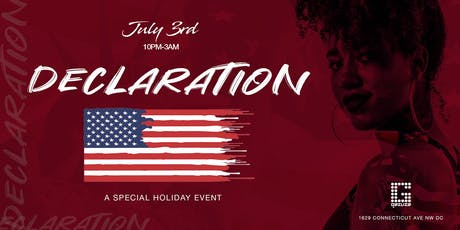 Declaration III | Signature Pre-Independence Special Event @ GAZUZA | Wed July 3rd tickets