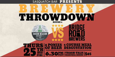 Brewery Throwdown - Round 4 tickets