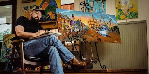 Rencontre & apéritif avec l'artiste louisianais, Bryan Theriot