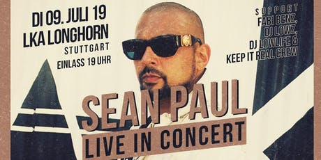 Sean Paul live in Concert Tickets