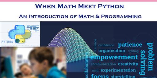 Kids Programming Series: When Math Meet Python