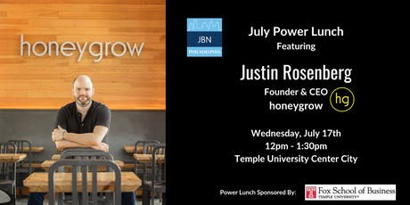 July Power Lunch: Justin Rosenberg, honeygrow tickets