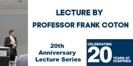 Lecture by Professor Frank Coton tickets