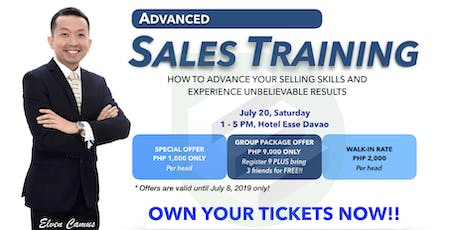 Advanced Sales Training - DAVAO Batch 30 tickets