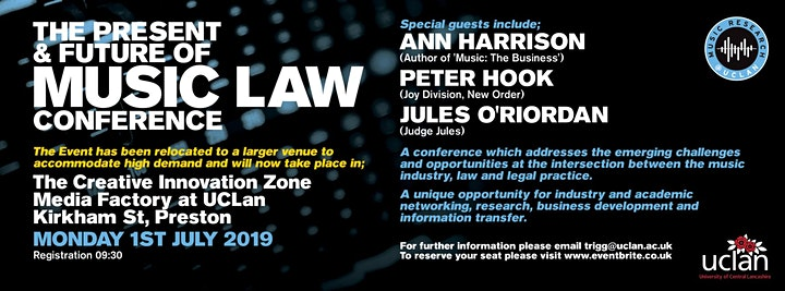 The Present and Future of Music Law Conference image