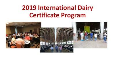 2019 International Dairy Certificate Program