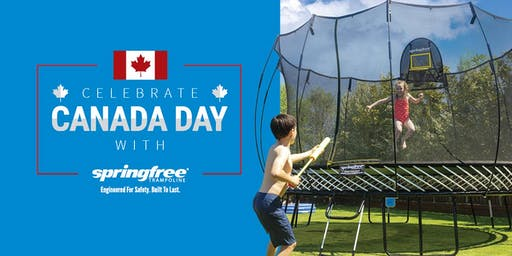 Jump into Canada Day with Springfree Trampoline