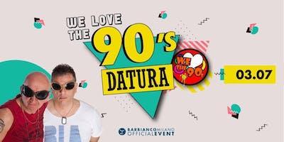 Bar Bianco Milano - Mercoledi 3 Luglio 2019 - We Love The 90's - Concerto Datura nel Parco Sempione Cocktail Party - Accrediti e Tavoli al 338-7338905