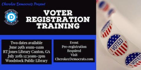Voter Registration Training tickets