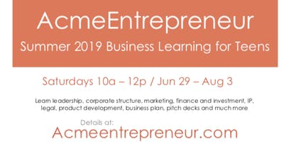 Acmeentrepreneur 2019 - Learn Business/Startups Introduction