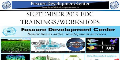 FDC SEPTEMBER 2019 TRAININGS AND WORKSHOPS