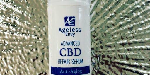 CBD Skin care product launch event- Lite bites, bubbles & gift bags...Ageless Envy
