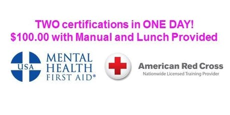 Health & Safety Training (CPR/AED & Mental Health First Aid Certifications) tickets