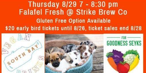 August Vegan Food, Friends, Beer & Adoptable Dogs