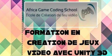 Formation en création de Jeux Vidéo  billets
