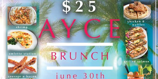 AYCE (all you can eat) Brunch at Touch Martini Bar
