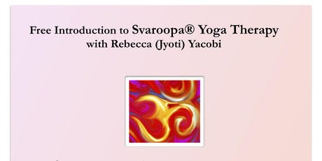Introduction To Svaroopa Yoga Therapy tickets