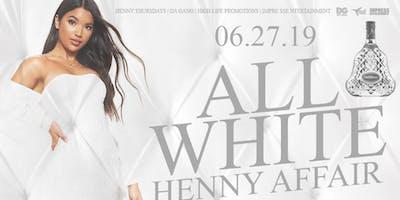 ALL WHITE HENNY AFFAIR @ BAR 3606