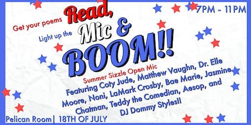 The Poet's Lounge presents Read, Mic & Boom
