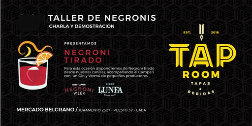 Taller De Negronis En Mercado De Belgrano