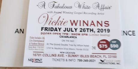 Vickie Winans  Concert  & Dinner tickets