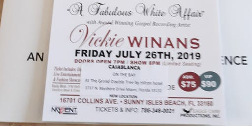 Vickie Winans  Concert  & Dinner