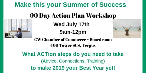 90 Day Action Plan (Business Workshop) ~ Your Summer of Success
