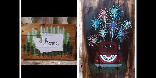 4th of July and Washington State Wood Pallet Edition