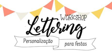 Workshop de Hand Lettering - Personalização para festas ingressos