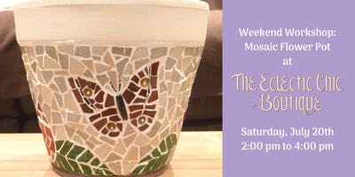 Weekend Workshop: Mosaic Flower Pot