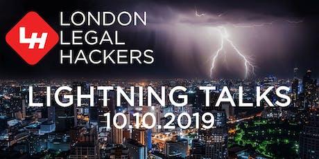 Legal Hackers Lightning Talks tickets