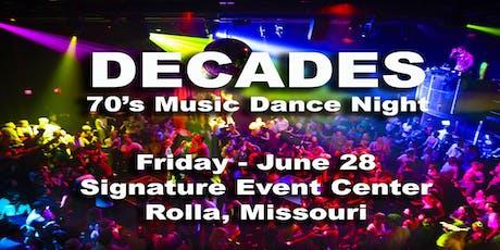 DECADES - 70's Dance Night! tickets
