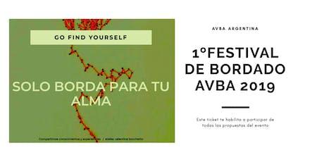 1º Festival de Bordado AVBA 2019  entradas