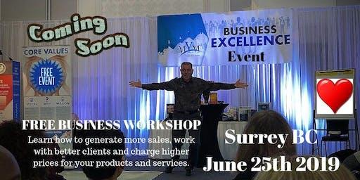 """""""Mastering Your Business For Maximum Profit & Success"""" Surrey BC Canada"""