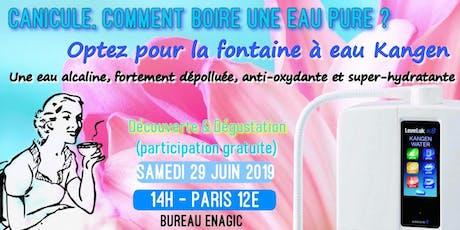 Canicule ! Comment boire une eau pure ? Optez pour Kangen : Samedi 29 juin 2019 14H à Paris billets