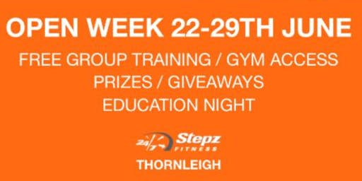 STEPZ FITNESS THORNLEIGH OPEN WEEK 22-29th June