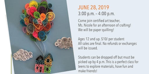 Found at Foundry (Teen Crafternoon): Paper Quilling