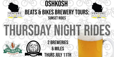 July Ride 3 - Beats & Bikes Brewery Tours: Oshkosh tickets