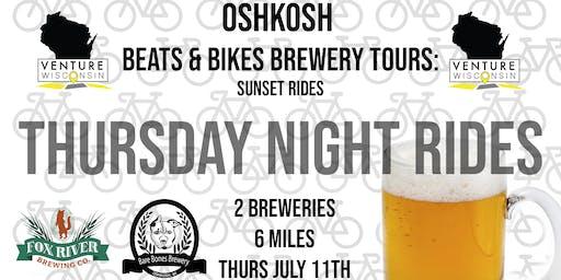 July Ride 3 - Beats & Bikes Brewery Tours: Oshkosh